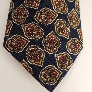 Pierre Balmain Extra Long Paisley Silk Tie
